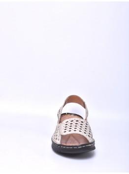 Босоножки женские ELETRA KSEL-0491_59-1 лето нат. кожа бежевый