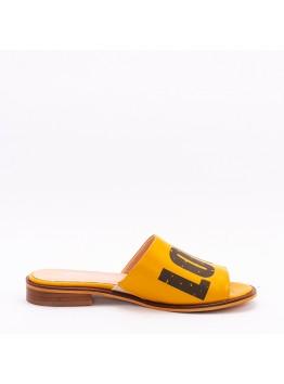 Пантолеты женские Eletra AMEL-698_154-1/L лето нат. кожа желтый;черный
