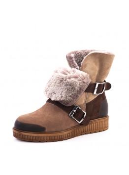 Ботинки женские AmyMichelle AMAM613_95-96-4/Z зима нубук светло-коричневый;коричневый