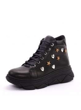 Ботинки женсике Eletra KSEL-781_01-1/D демисезон натуральная кожа черный