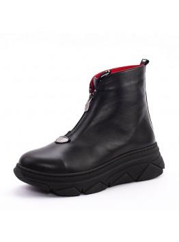 Ботинки женсике Eletra KSEL-780_01-1/D демисезон натуральная кожа черный
